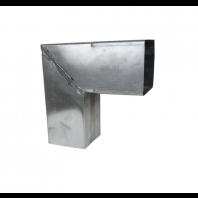 Zinken bocht vierkant 90gr. 80x80